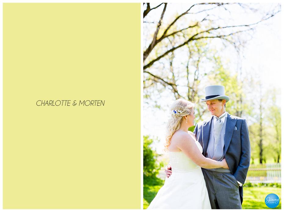 En liten forsmak på bryllupet til Charlotte og Morten.