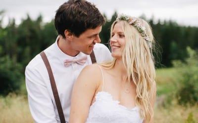 Bryllupet til Stine og Fredrik på Odden gård i Skien